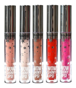 5 Gloss Labial Wow Shiny Lips! - Ruby Rose