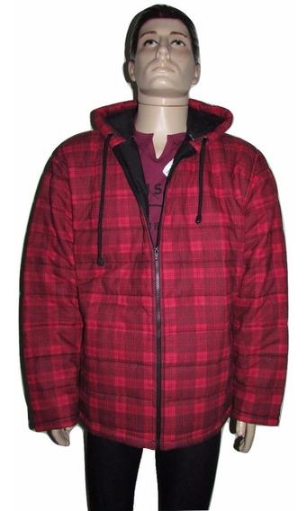 Jaqueta Masculina Com Capuz Tecido Com Enchimento Matelassê