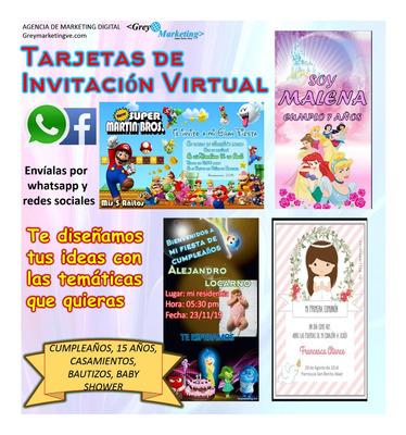 Tarjetas De Invitacion Virtual Animadas Greym
