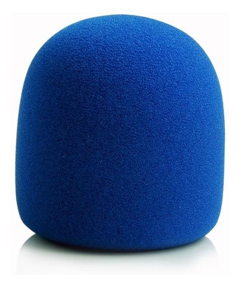 Espuma Para Microfone De Mão Sm58 Azul