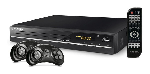 Dvd Mondial Game Star Ii D14 Função Game 600 Jogos Com Usb