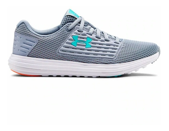 Zapatillas Under Armour Surge Mujer Running Gris/turquesa