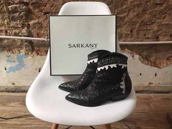 Botas Ricky Sarkany,no Paruolo 100% Cuero Y Glitter Talle 38