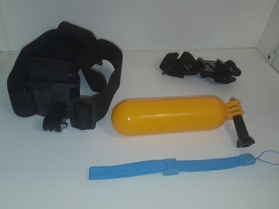 Kit Básico Câmera Go Pro - Bastão De Mão Suporte Cabeça