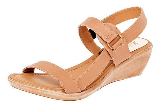 Zapato Descanso Ankle 5cm Camel Mujer Pravia D71467 Udt