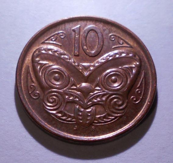 Nueva Zelanda 10 Cents 2006 - Km#117a - Mascara Maorí