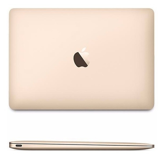 Apple Macbook 12 Tela Retina 8gb Ssd256 2016 Dourado