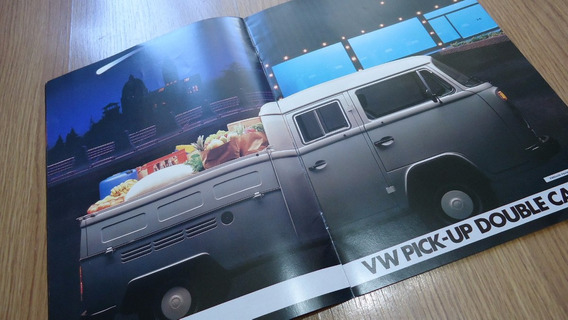 Folder Brochura Vw Kombi Luxo Cd Picape 1986