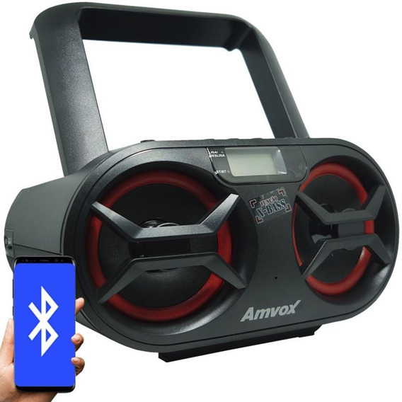 Som Portátil Boombox Rádio Cd Mp3 Player Usb Sd Fm Bluetooth