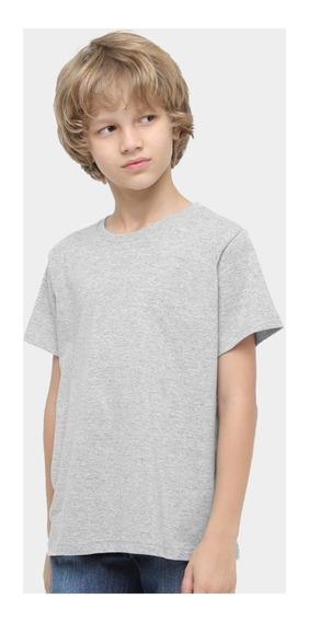 Roupa De Criança Infantil Menina Menino Básica Lisa Camiseta