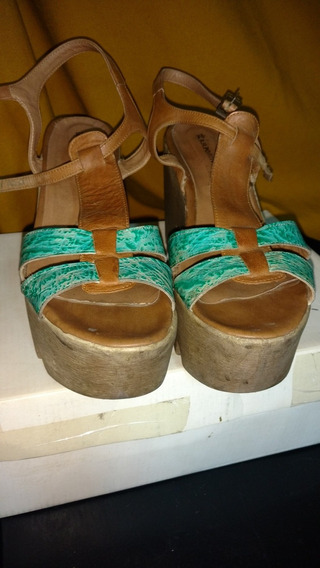 Sandalias Verdes-marrones- Rh Positivo