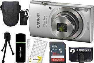 Canon Powershot Elph 180 20mp 8x Zoom Camara Digital (plata)