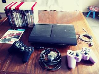 Consola Ps3 Slim + 15 Juegos Fisicos Gta 5, Legó, Minecraf