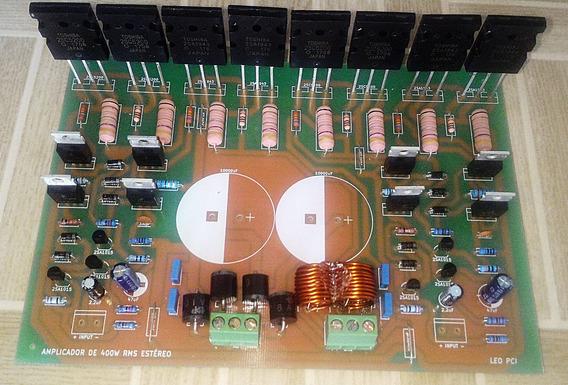 Placa Amplificador 400w Rms Estéreo Com Fonte Embutida