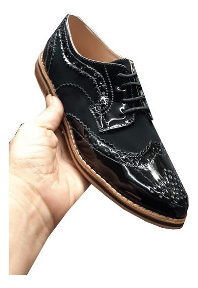 Zapato Estilo Oxfords Mujer Material Charol