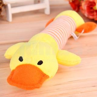 Pato Juguete Con Chifle De 27cm Para Perros Mascotas