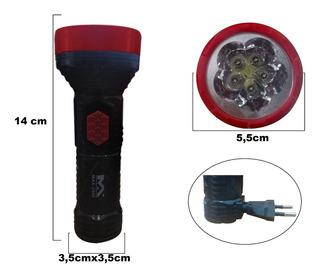 Lanterna Recarregável De 5 Led Para Uso Doméstico Max-2906