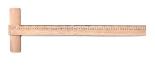 Regla T Dibujo Madera Tipo Cedro 55 Cm. Para Tabla De 1/4 W