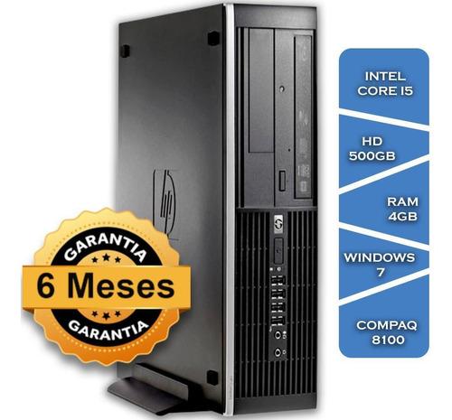Imagem 1 de 3 de Pc Hp Compaq 8100 Core I5 650gº Hd500 4gb Ram Win7 Small