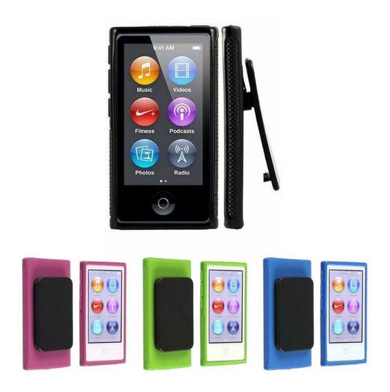 Capa Case Apple iPod Nano 7 7g Com Clip + Pelicula Gratis