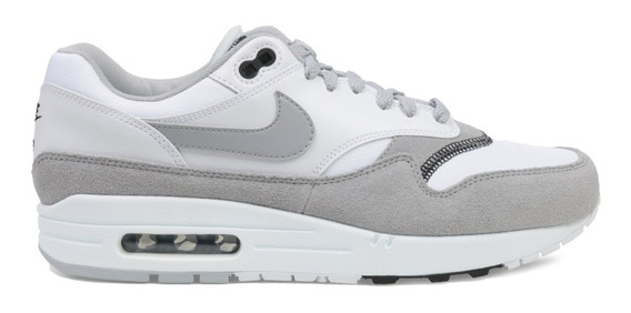 Nike Air Max 1 Wolf Grey White Hombre Originales Cod 0180