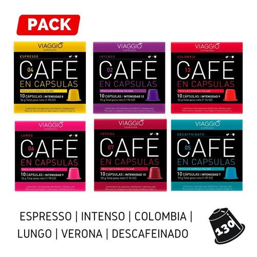 Pack 130 Cápsulas Café Viaggio Espresso Para Nespresso®