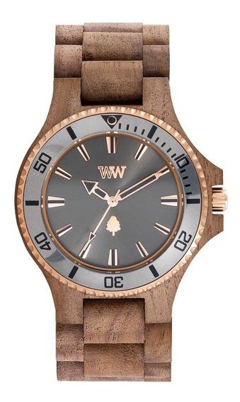 Relógio, Wewood, Date Mb Nut Rough Gun