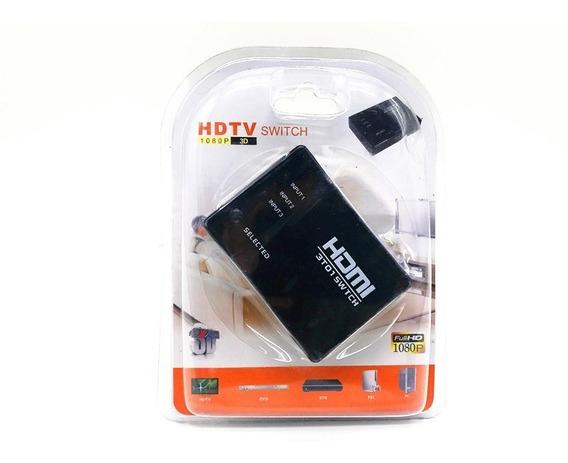 Switch Selector De Hdmi 3x1 3 Entradas 1 Salida 1080p Hd 3d