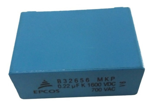 Imagem 1 de 3 de Capacitor Filme Epcos B32656 Mkp 0.22 Uf K 1600 Vdc 700 Vac