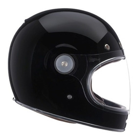 Capacete Retro Bell Bullitt Solid Black Old School Café Race