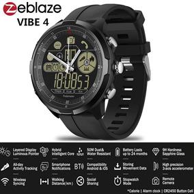 Relógio Masculino Zeblaze Vibe 4 - Ip68 - Safira -c/garantia