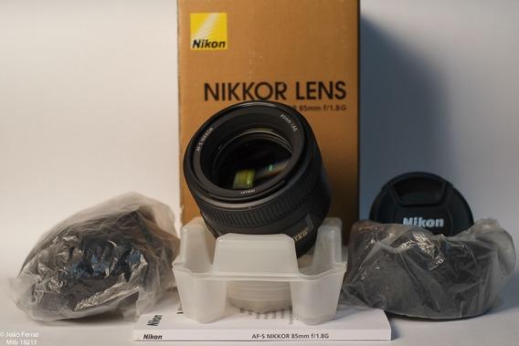 Objetiva Nikon 85mm 1:1.8 G-nova!!confira!!
