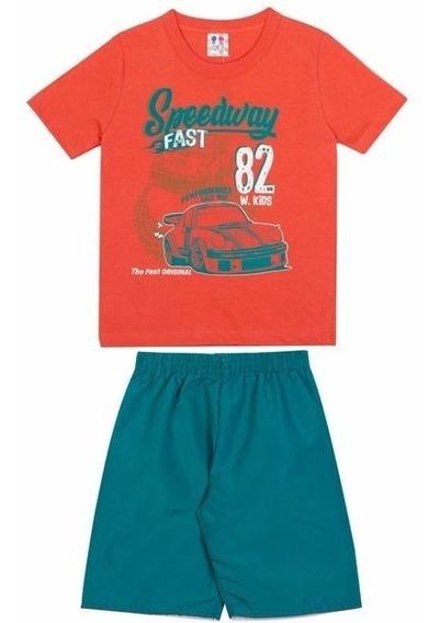 Conjunto Infantil Camisa E Bermuda Masculino W.kids Speedway