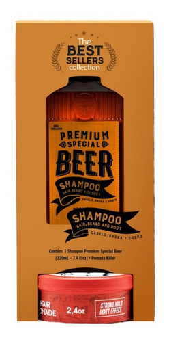Kit Best Sellers Collection Qod Pomada + Shampoo
