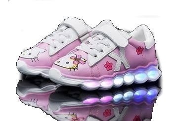 Hello Kitty Tenis Led Bebés Y Niñas