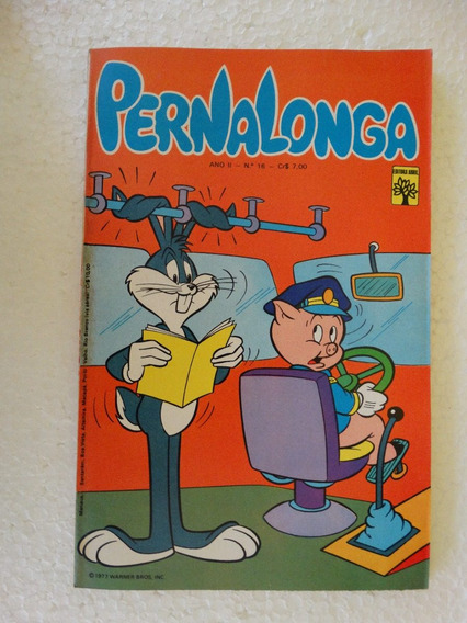 Pernalonga Nº 16! Editora Abril Jan 1977!