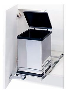 Porta Residuos Para Puerta Inox 12 Lit. Fark Tacho De Basura