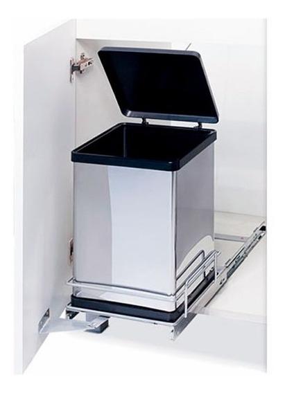 Porta Residuos Extraible Inox 12 Lit. Fark Tacho De Basura