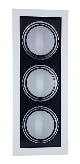 Plafon Spot Embutir P/3 Lâmpadas Ar70 Br/pt - Vr 4603/3