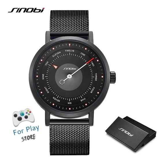 Relógio Sinobi Com Movimento De Cristal De Quartzo Aço Inoxidável À Prova D
