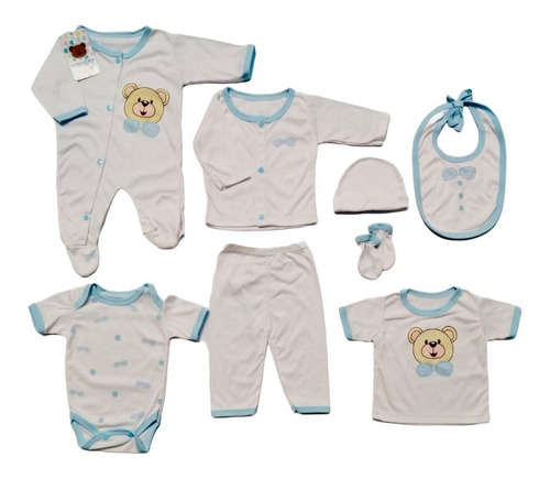 Primer Dia Bebe Recien Nacido Niño Niña 8 Piezas Ref 165