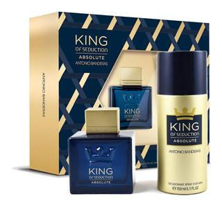 Perfume Hombre King Of Seduction Absolute Antonio Banderas Edt 100ml + Desodorante