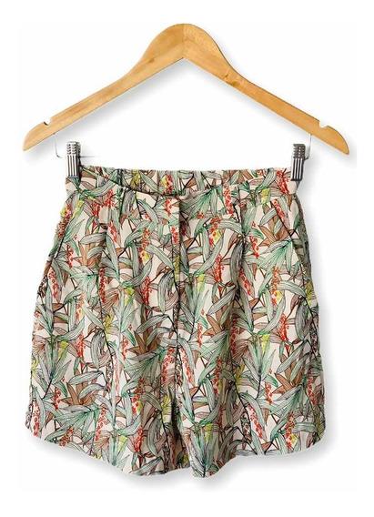 Shorts Estampado H&m Talle 36