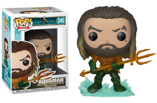 Funko Pop Aquaman #245 - Dc Comics Super Heroes 2018 Figuras