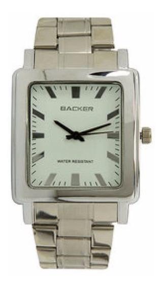 Relógio Backer 1492123 Caixa E Pulseira Aço Prova D