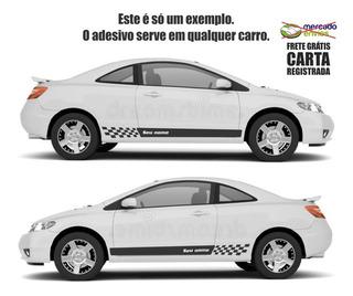 Adesivo Faixas Laterais Carro Nome Personalizado 180cm A726