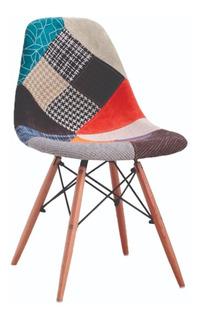 Silla Eames Parche, Patch, Patchwork, Moderna Textil 235 B1