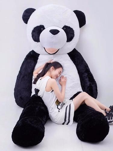 Imagem 1 de 5 de Panda De Pelúcia 1,60 Mts 160cm Boneco Presente Decoração