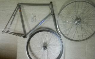 Cuadro Bici Y Ruedas Fixie Hispano France