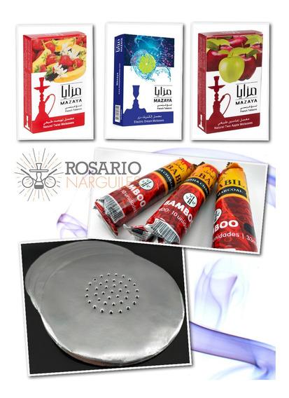Kit De Inicio Mazaya Narguile X 3 - Tabaco+carbón+aluminio